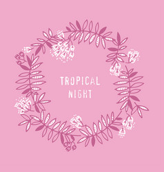 Modern floral design with tropical abstract leaves vector
