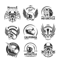 Motorcycle helmet design elements set vector