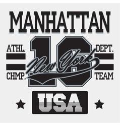 New york city typography manhattan t-shirt vector