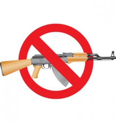 no guns vector image vector image