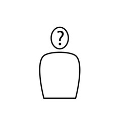questioning person icon vector image