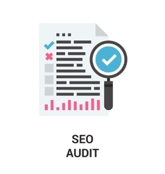 Seo audit icon vector