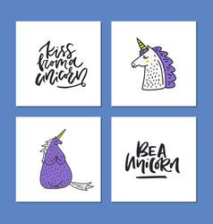 Set of magic cards vector