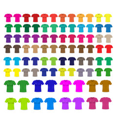 Set of templates colored t-shirts vector