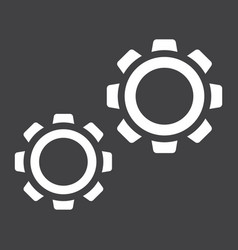 Settings solid icon cogwheels and website vector