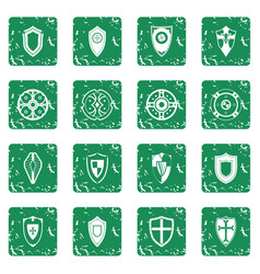 shields set grunge vector image