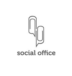 social office concept design template vector image vector image
