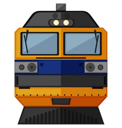 Train design in yellow color vector
