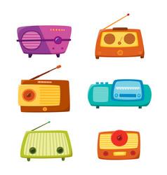 vintage radio isolated on white background vector image