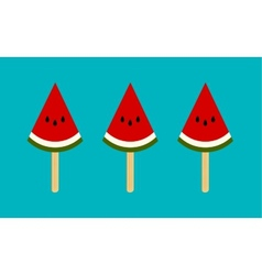 Watermelon ice cream vector image