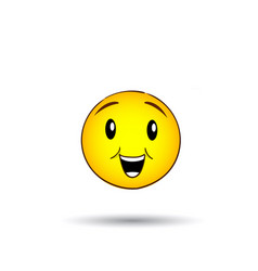 yellow smiling face positive people emotion icon vector image vector image
