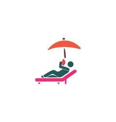 Sunbathe Icon vector image