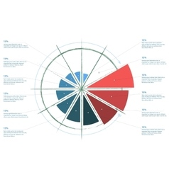 Infographics standard pie chart graph diagram vector