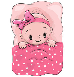 cute cartoon sleeping baby vector image