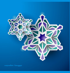 Geometric art islamic background ramadan vector