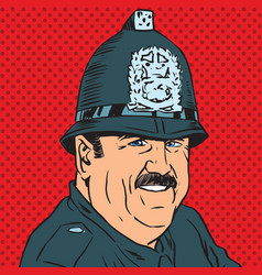 Avatar portrait of a british police officer vector