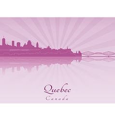 Quebec skyline in purple radiant orchid vector