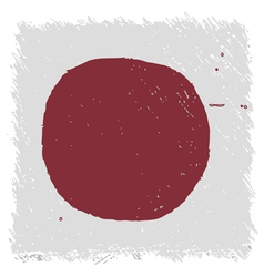 Flag of japan handmade square shape vector