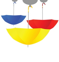 Umbrella set color vector