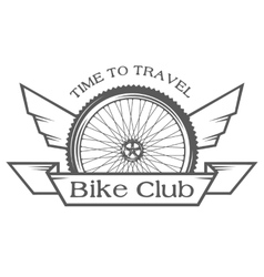 The emblem on the theme of cycling club vector