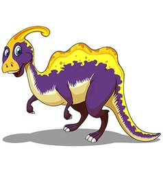 Purple parasaurolophus standing alone vector