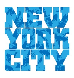 T shirt typography graphics new york blue grunge vector