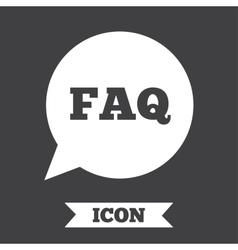 Faq information sign icon help symbol vector