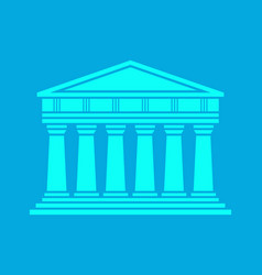 Architecture greek temple icon vector