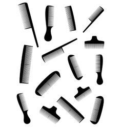 background with many black comb vector image