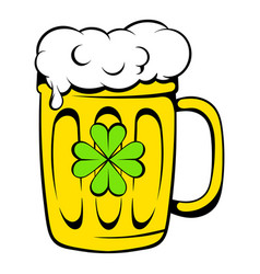 beer mug icon icon cartoon vector image vector image