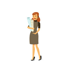 businesswoman character in formal wear and headset vector image vector image