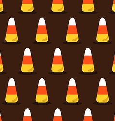 Candy corn pattern vector image