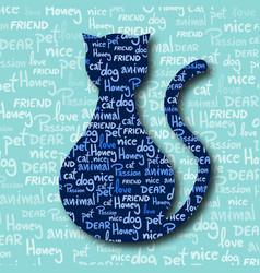 Card cat vector