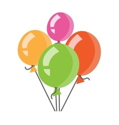 Colourful birthday or party balloons vector image