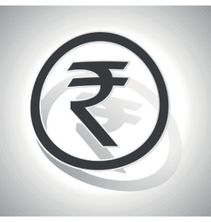 Curved rupee sign icon vector