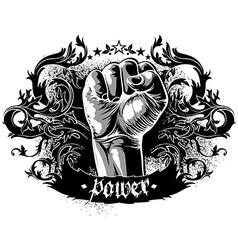 decorative symbol of power vector image