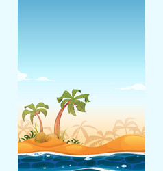 Exotic beach landscape vector