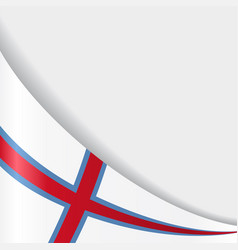 Faroe islands flag background vector