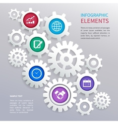 Gears infographics template vector