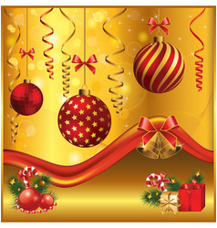 gold-red christmas vector image vector image