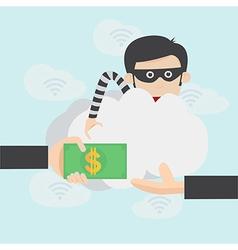 Hacker steal money over the online internet vector