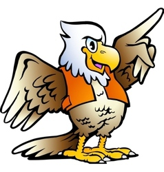 Hand-drawn of an Pointing Eagle vector image vector image