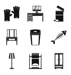 House cleaning icon set simple style vector