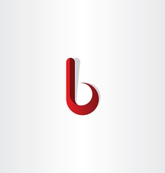 letter b red gradient logotype vector image