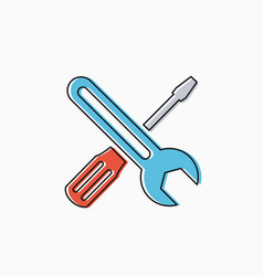 linear icon tools vector image