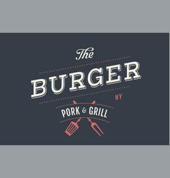 logo of burger bar vector image vector image