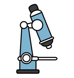 Microscope laboratory isolated icon vector