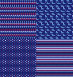 nautical patterns 2 vector image