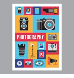 Photography - mosaic flat design poster vector image vector image