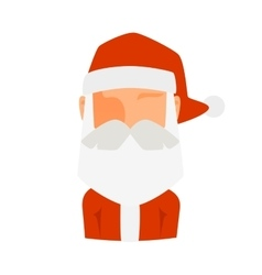 Santa Claus flat icon avatar vector image